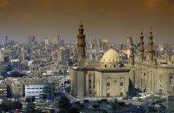 非洲埃及开罗老镇苏丹哈桑清真寺 库存图片