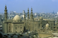 非洲埃及开罗老镇苏丹哈桑清真寺 库存照片