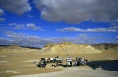 非洲埃及撒哈拉大沙漠FARAFRA白色沙漠 免版税库存照片