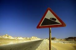 非洲埃及撒哈拉大沙漠FARAFRA白色沙漠 免版税图库摄影