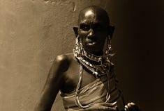 非洲夫人 免版税图库摄影