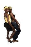 非洲夫妇女孩s 免版税图库摄影