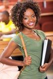 非洲女大学生 免版税图库摄影