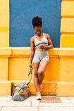 非洲女子运动员 免版税图库摄影