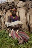 非洲女孩纵向 库存照片