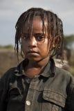 非洲女孩纵向 库存图片