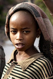 非洲女孩纵向 免版税图库摄影