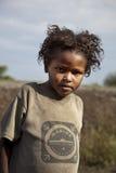 非洲女孩纵向 免版税库存照片