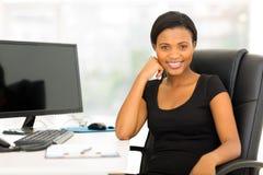 非洲女实业家办公室 库存图片