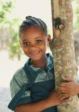 非洲女小学生 库存图片