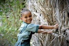 非洲女小学生 免版税库存图片