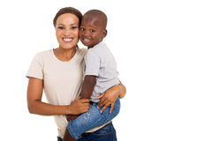 非洲妇女儿子 免版税图库摄影