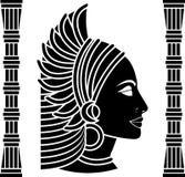 非洲妇女外形 黑变形 库存照片