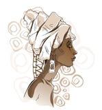 非洲妇女画象 免版税库存照片