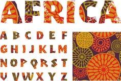 非洲-字母表和样式 库存照片