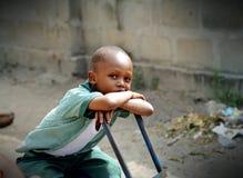 非洲学童 库存照片