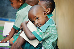 非洲学童 免版税库存图片