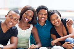 非洲学院朋友 库存图片