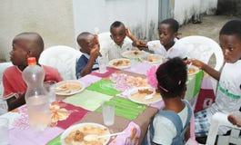 非洲孩子周年  库存照片