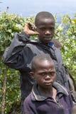 非洲孩子在卢旺达 免版税图库摄影