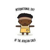 非洲孩子的国际天 也corel凹道例证向量 免版税库存照片