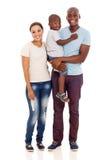 年轻非洲家庭 图库摄影
