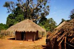 非洲小屋秸杆 库存照片