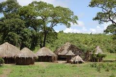 非洲小屋-赞比亚 免版税库存照片