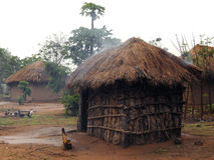 非洲小屋 免版税图库摄影