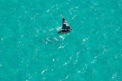 非洲小船莫桑比克南部的水 免版税库存图片