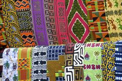 非洲布料样式 免版税图库摄影