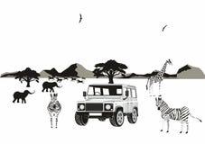 非洲徒步旅行队 图库摄影