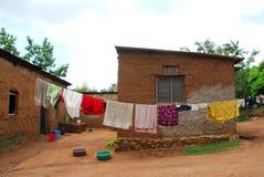 非洲房子 免版税库存照片