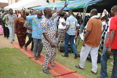 非洲教士教士的十年 免版税库存照片
