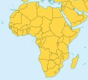 非洲映射向量 库存照片