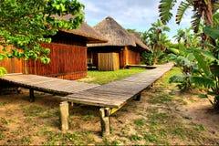 非洲村庄的角落 免版税库存图片