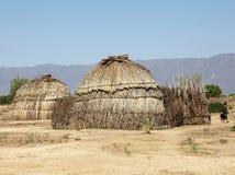 非洲村庄 库存图片