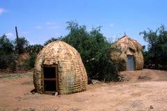 非洲村庄 免版税库存照片
