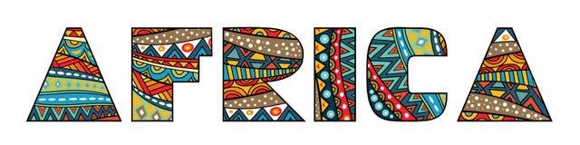 非洲标题 图库摄影