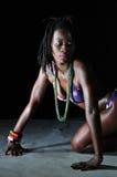 非洲比基尼泳装女孩 免版税图库摄影
