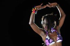 非洲比基尼泳装女孩 图库摄影