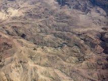 非洲沙漠鸟瞰图  库存照片