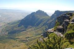非洲海角山南表城镇 库存照片