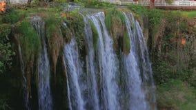 非洲海角drakenstein klein山临近西部paarl射击南的瀑布 与树和草的夏天风景 股票视频