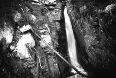 非洲海角drakenstein klein山临近西部paarl射击南的瀑布 库存照片