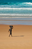 非洲渔夫 免版税图库摄影