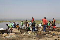 非洲渔夫 免版税库存图片