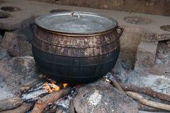 非洲烹调罐 免版税图库摄影