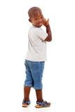 非洲男孩一点 免版税库存图片
