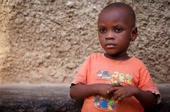 非洲男孩的面孔 免版税库存照片
